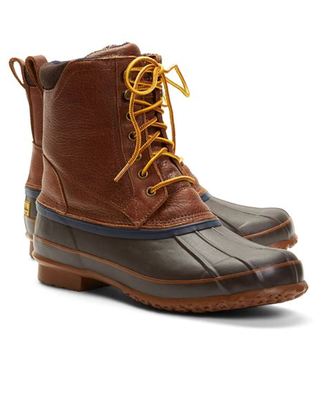 duck boots for brothers duck boots in brown for lyst