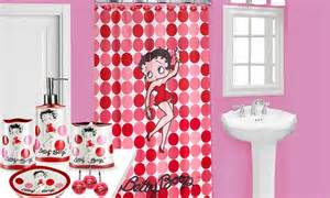 Betty Boop Shower Curtains Bathroom Accessories Betty Boop Shower Curtain Set And Bath Accessories Groupon