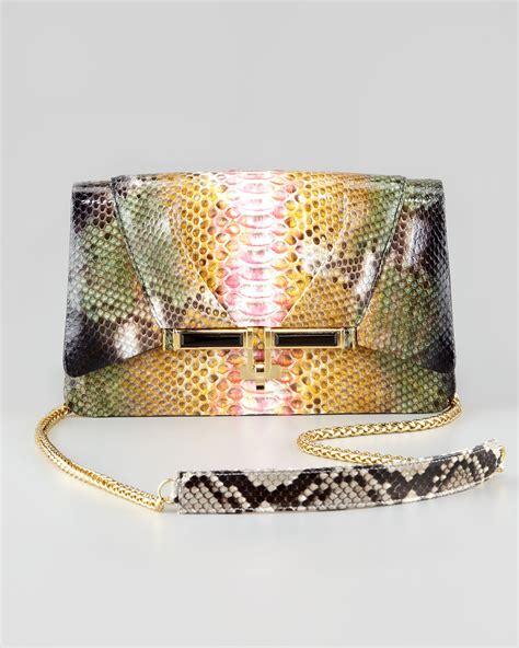 Kara Ross Cella Bag by Kara Ross Priscilla Garden Splatter Python Clutch Bag Lyst