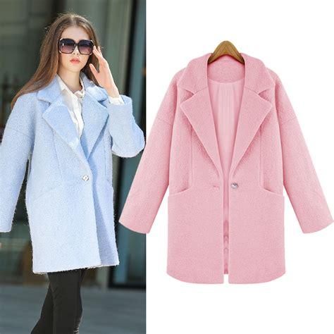 light blue wool coat ladies pink coats jacketin