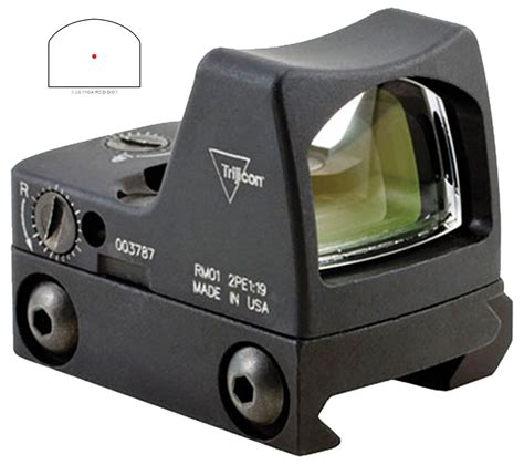 New Rmr Mini Tactical Sight With Rail And Glock Mount trijicon rm0733 rmr dot scope 6 5 moa for sale