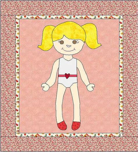 rag doll quilt pattern dress up doll quilt paper doll pattern by