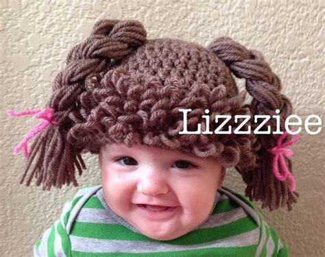 doll hair hat crochet pattern cabbage patch wig easy
