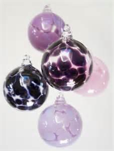 purple amethyst handmade blown glass folksy