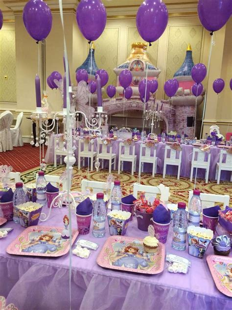 Princess Sofia Decorations by Princess Sofia Birthday Ideas Photo 6 Of 36