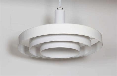Saucer Light Fixture Minimalist White Three Tier Saucer Pendant Light Fixture At 1stdibs