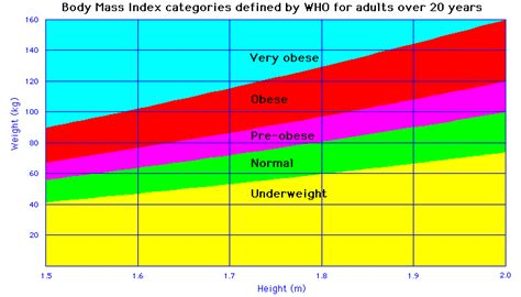 20 Square Metres by Body Mass Index Bmi