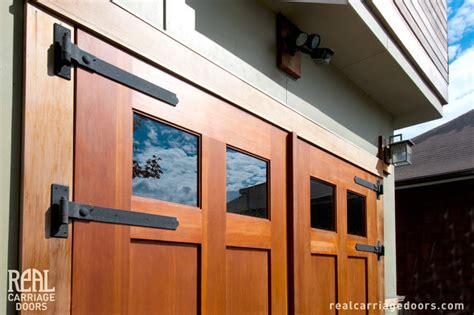 Garage Swing Doors Outswing Carriage Garage Doors Modern Flat Or Shed Seattle By Real Carriage Door