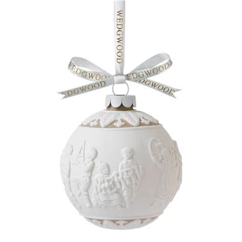 wedgwood merry christmas ball porcelain ornament
