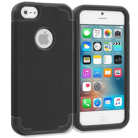 Iphone 5 5s Se Ory Soft Casing Cover Leather for apple iphone 5 5s se hybrid armor soft silicone slim armor cover ebay