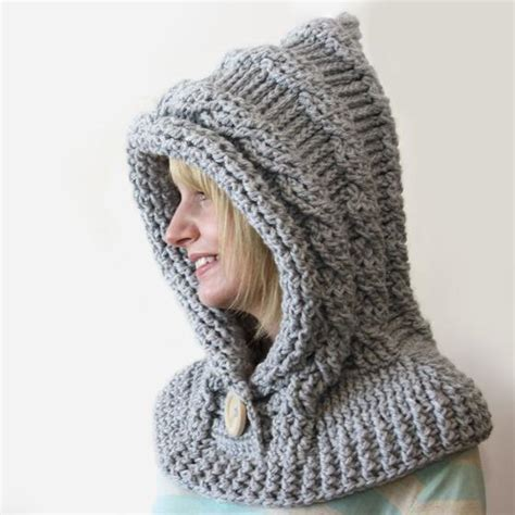 hooded cowl knit pattern 51 degrees crochet hooded cowl knitting patterns