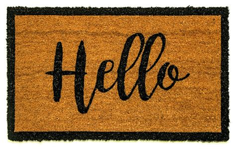 Doormat Reviews by Dynamic Rugs Quot Hello Quot Doormat Reviews Houzz