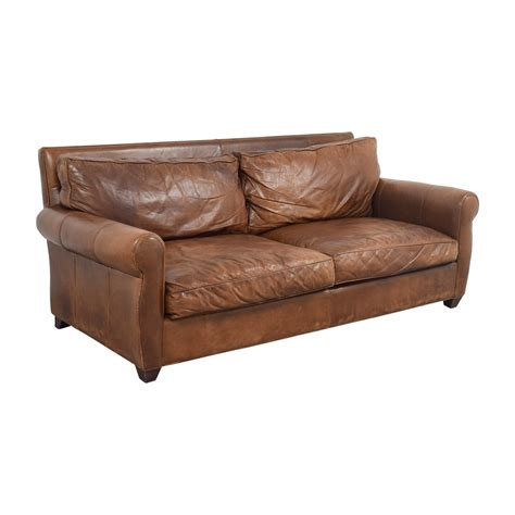 Arhaus Leather Sofa 74 Arhaus Arhaus Rust Leather Two Cushion Sofa Sofas