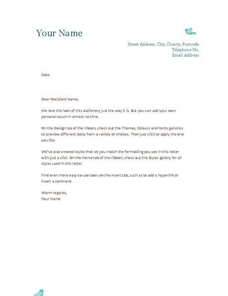 personal letterhead template personal letterhead