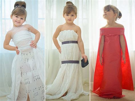 How To Make A Dress Out Of Wrapping Paper - meet the 4 year who crafts worthy gowns out of