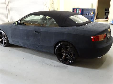 matte black audi a4 convertible audi a4 convertible black suede wrap with chrome gold