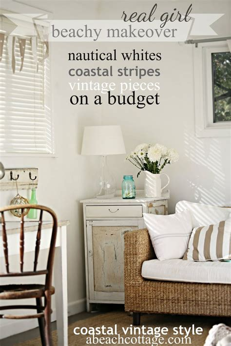 beach house decorating ideas on a budget beach cottage coastal nautical summer house makeover on a