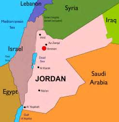 Jordan On World Map by Jordan Map Travel Map Vacations Travelsfinders Com