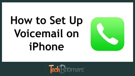 set  activate voicemail  iphone youtube