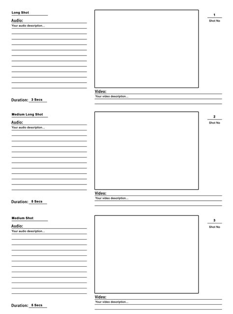 blank storyboard new calendar template site