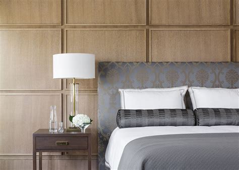 wood panel accent wall this bedroom uses square wood panels to create a modern