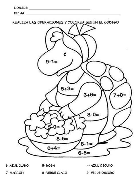 dibujos para colorear sumasyrestas colorea por sumas y n 7 sumas y restas colorear cscjprofes