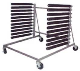 ch 10 slot mobile windshield rack with heavy duty