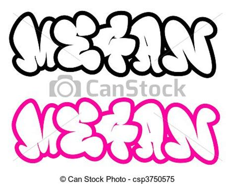 coloring pages of the name megan stock illustrations of the name megan in graffiti style