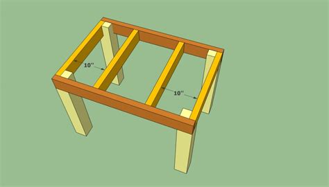 patio table plans howtospecialist how to build step