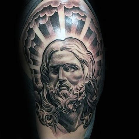 cross tattoo with sun rays 60 jesus arm designs for religious ink ideas