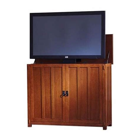 touchstone elevate mission tv lift cabinet for 24 46 inch
