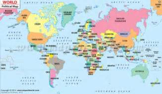 country location in world map political map of the world for explaining and