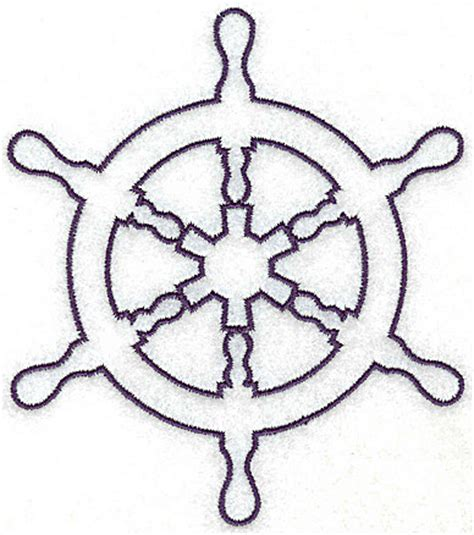 ship wheel template ship s wheel outline large aitn110d embroidery design by