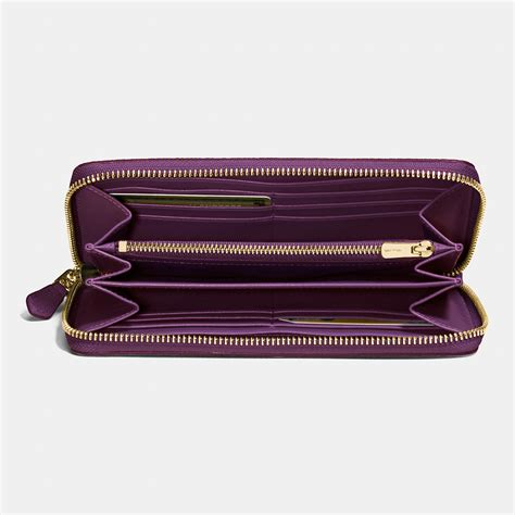 Purple Accessories Purple Wallets Purple Belts Purple Gloves And More by Coach Accordion Zip Wallet In Floral Print Coated Canvas