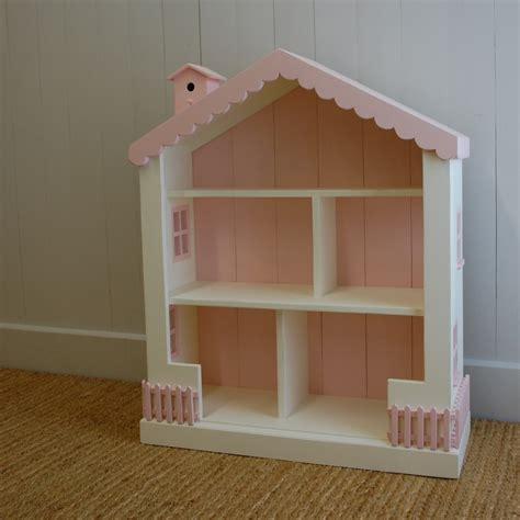 simple doll house cottage dollhouse bookcase 15 colors solid pine wood 41 quot high playroom bedroom ebay