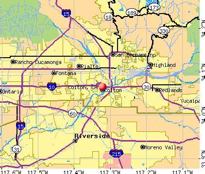 colton california map colton california ca profile population maps real