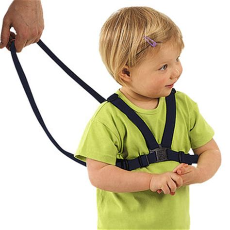 bathroom baby harness using a baby harness as a safety device