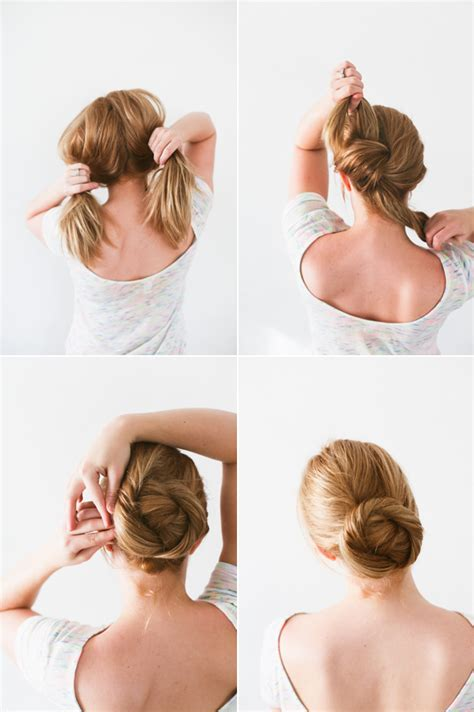 wedding hair up tutorials diy updos for hair step by step knotted chignon wedding