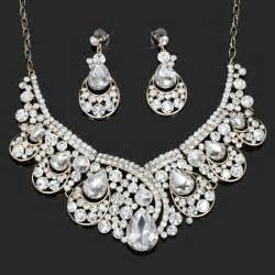 teardrop bridal jewelry set choker wedding necklace sets gold