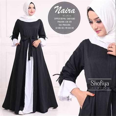 Dress Nira Gamis Nira jual baju gamis pesta muslim naira dress black