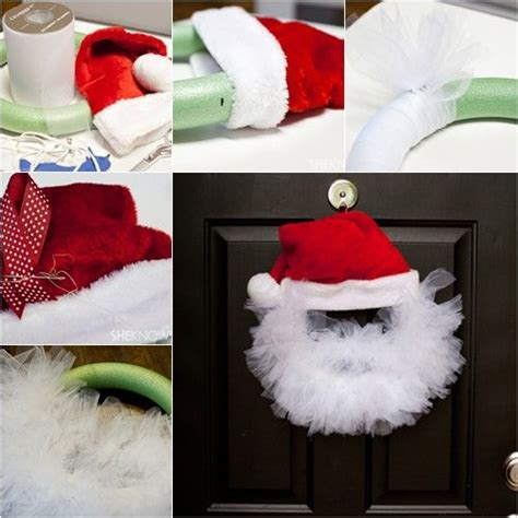 pinterest christmas made out of tulldecorating ideas diy santa wreath pictures photos and images for and