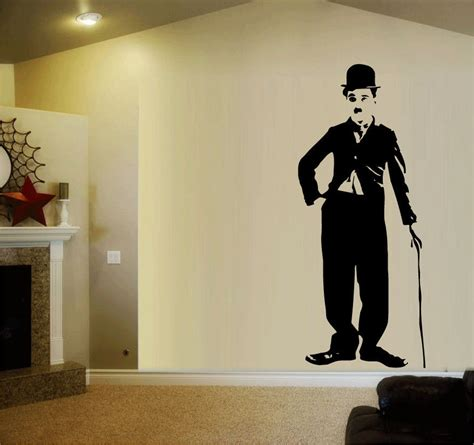 Wall Stickers charlie chaplin wall sticker livinator