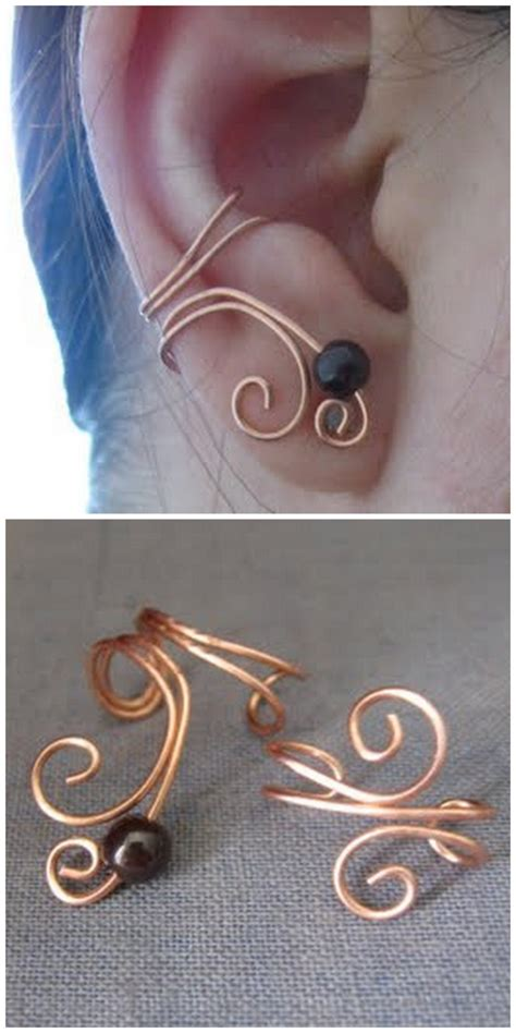 diy ear cuff true blue me you diys for creatives