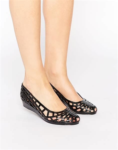 juju christabel cut out jelly flat shoes clothes shoes flat shoes 1 quot and flats