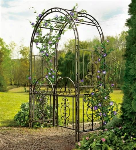 Iron Garden Arbor Gate Napoli Gold Polyester Curtain Curtain Pairs Home And