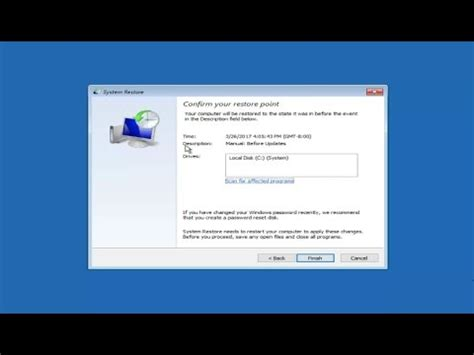 windows 10 complete tutorial system restore in windows 10 complete tutorial youtube