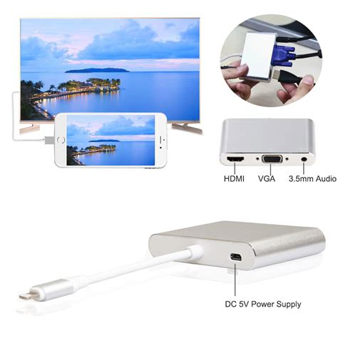 Lightning To Hdmi Vga Audio Adapter adapter converter lightning to hdmi vga with audio port
