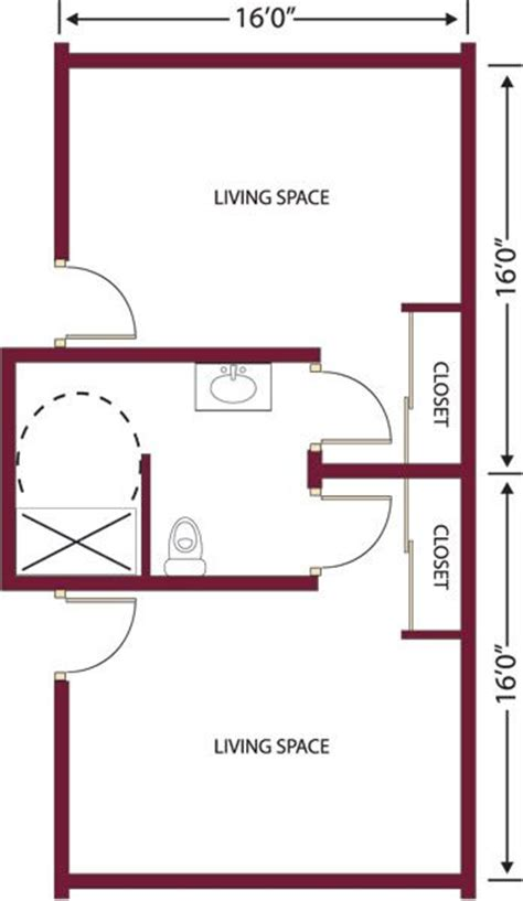 Assisted Bathroom Layout by Shared Bathroom Layout Springfield Senior Apartment Floor Plans Bayberry Commons Assisted