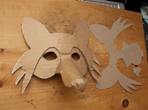 How To Make A 3d Mask Out Of Paper - 25 best ideas about cardboard mask on mask