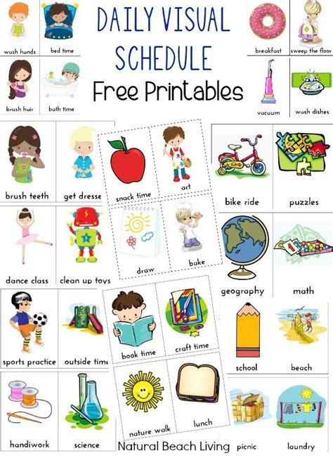 printable daily schedule cards 294 best diy sensory products images on pinterest